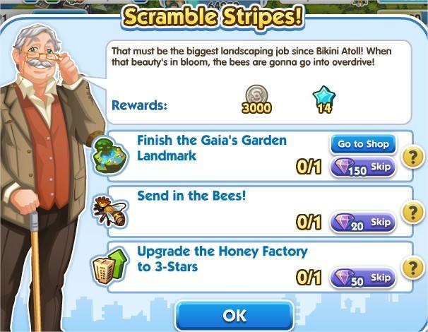 SimCity Social, Scramble Stripes!