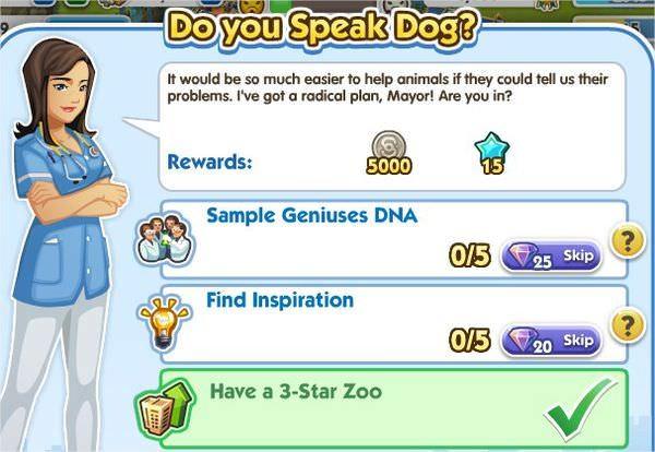 SimCity Social, DO you Speak Dog?