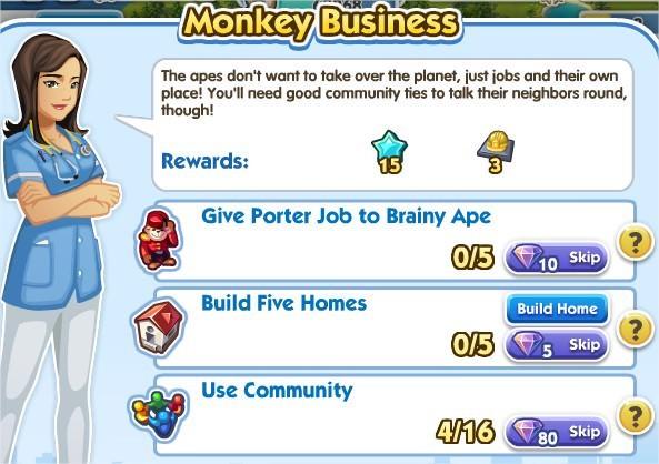 SimCity Social, Monkey Business