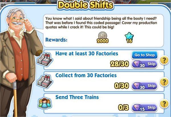 SimCity Social, Double Shifts