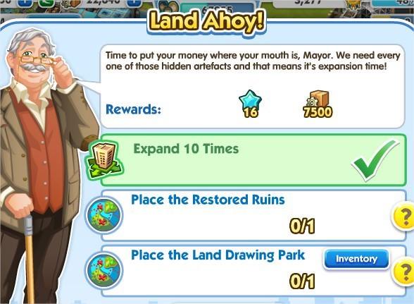 SimCity Social, Land Ahoy!