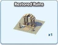 SimCity Social, Restored Ruins