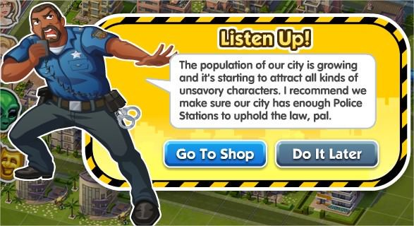 SimCity Social, Police Station