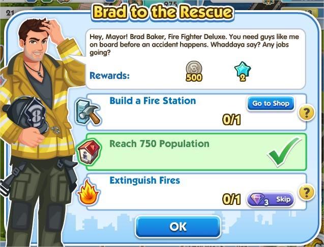 SimCity Social, Brad to the Rescue