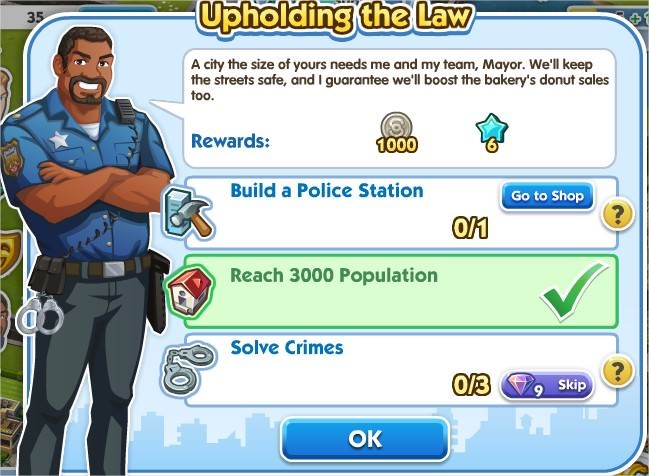 SimCity Social, Upholding the Law