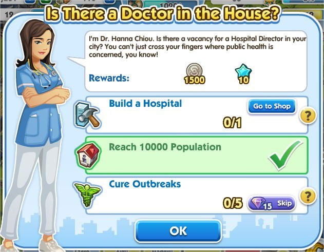 SimCity Social, Is There a Doctor in the House?