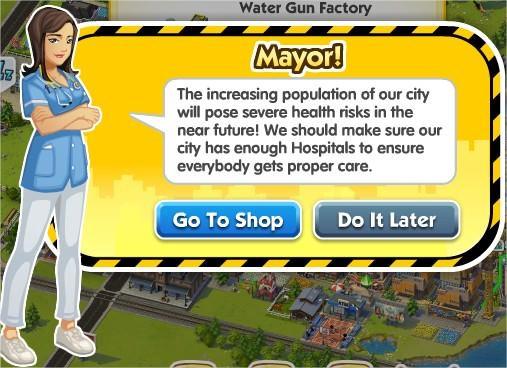 SimCity Social, 醫院(Hospital)