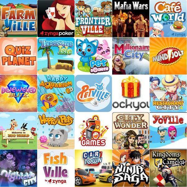 Facebook 最熱門的25個遊戲(2010年11月)