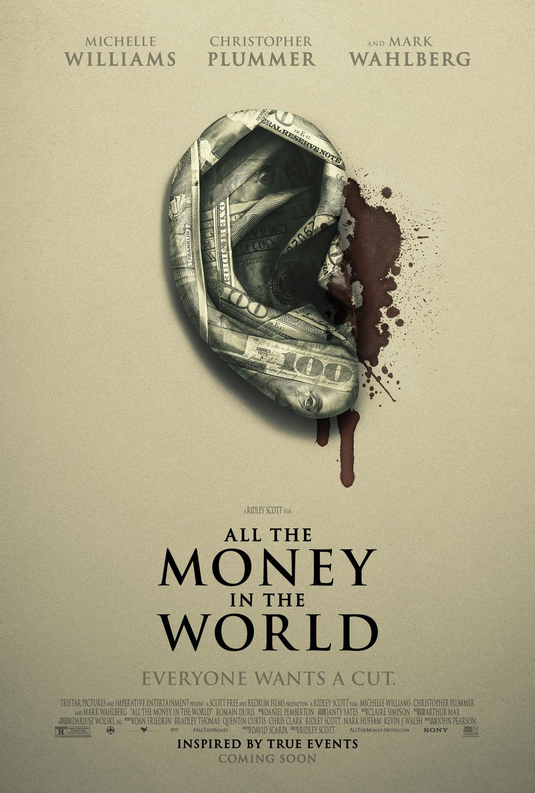 Movie, All the Money in the World(美國) / 金錢世界(台) / 金钱世界(中) / 萬惡金錢(港), 電影海報, 美國, 預告