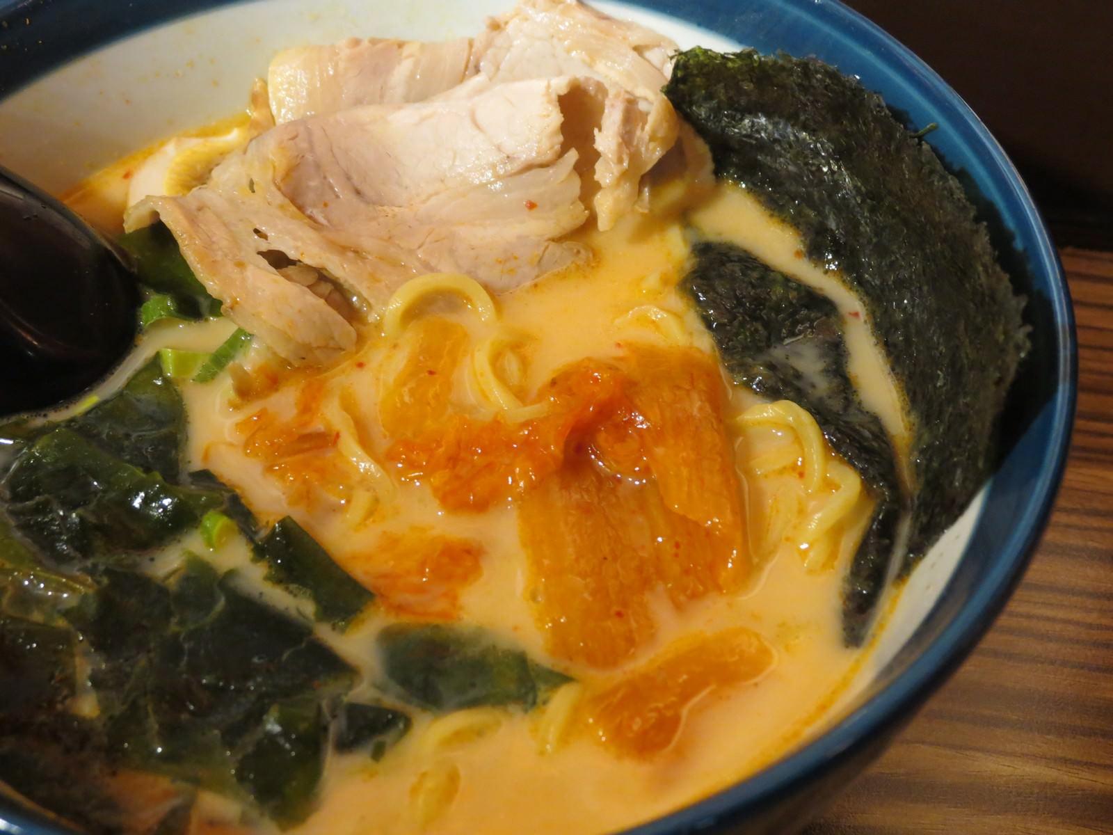 九湯屋日本拉麵@南港店, 餐點, 韓式泡菜拉麵