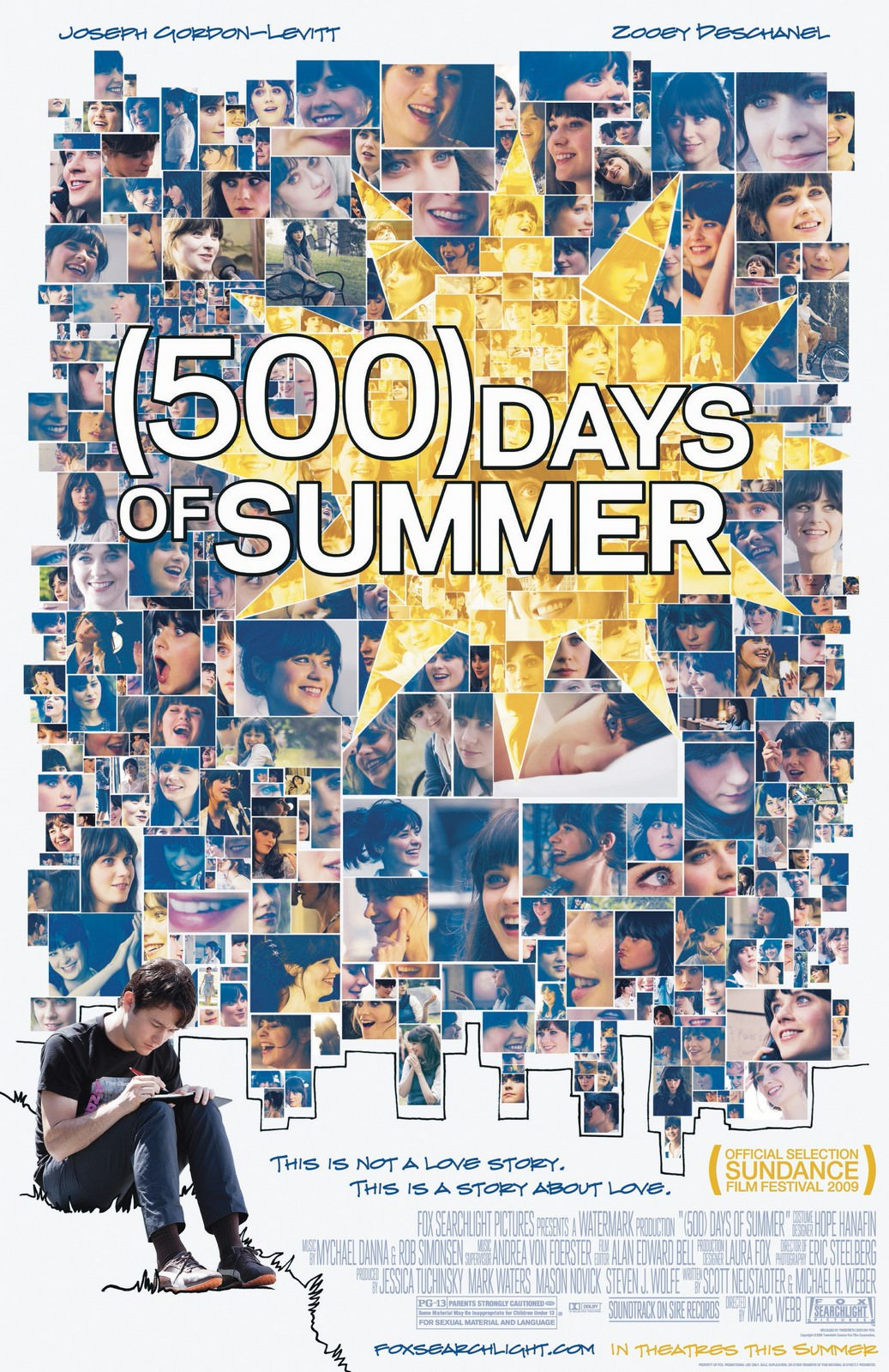 Movie, Days of Summer(美國) / 戀夏500日(台) / 心跳500天(港) / 和莎莫的500天(網), 電影海報, 美國
