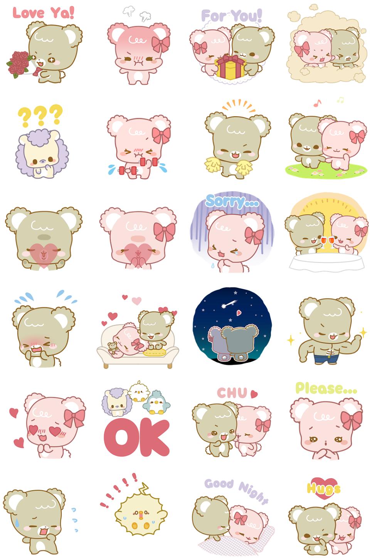 Facebook, 貼圖商店, 可愛的甜蜜小熊