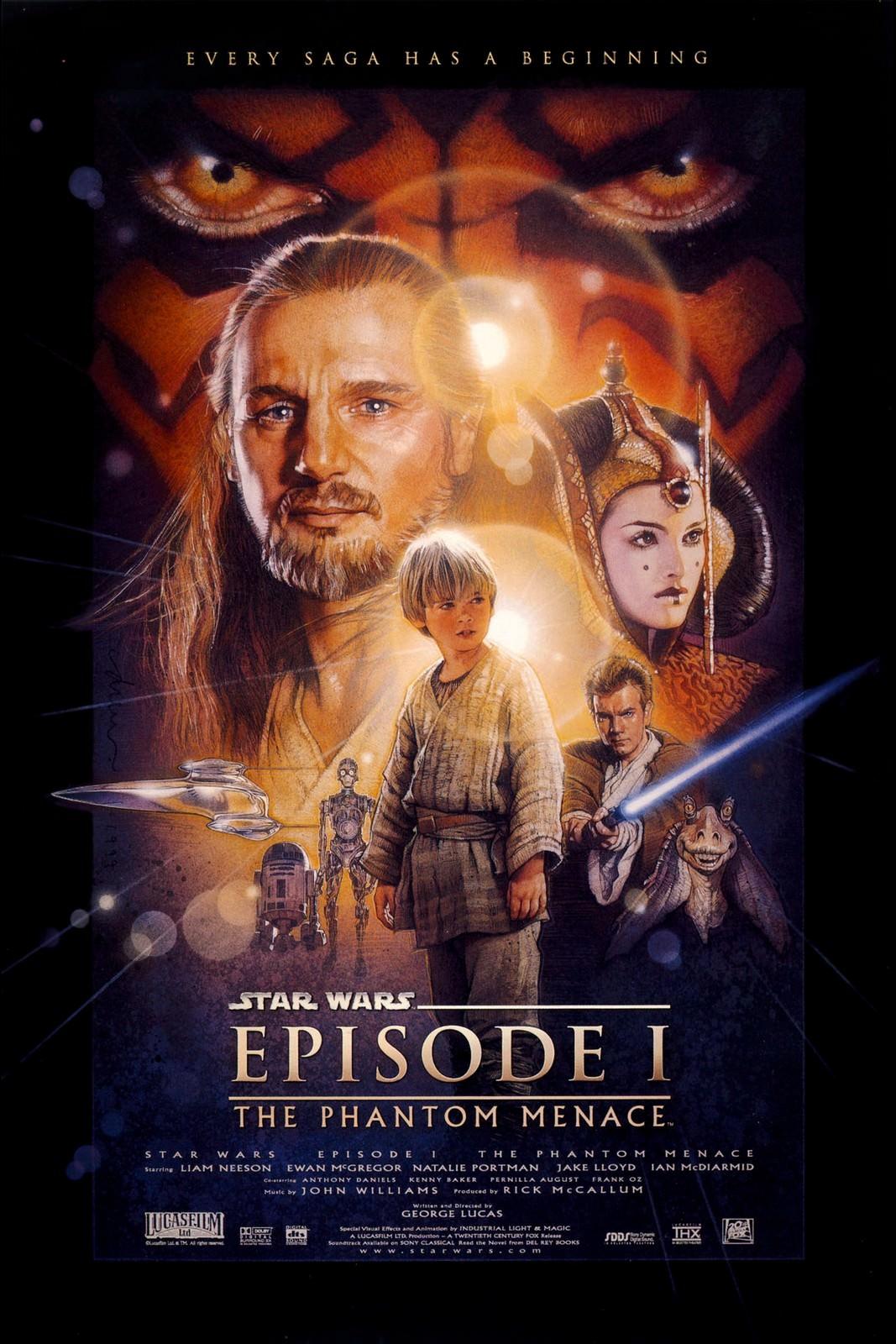 Movie, Star Wars: Episode I - The Phantom Menace(美國, 1999) / 星際大戰首部曲:威脅潛伏(台灣) / 星球大战前传:幽灵的威胁(中國) / 星球大戰前傳:魅影危機(香港), 電影海報, 美國
