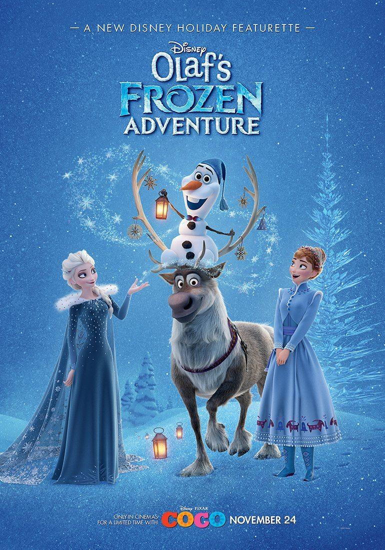Movie, Olaf's Frozen Adventure(美國, 2017年) / 雪寶的佳節冒險(台灣), 電影海報, 美國