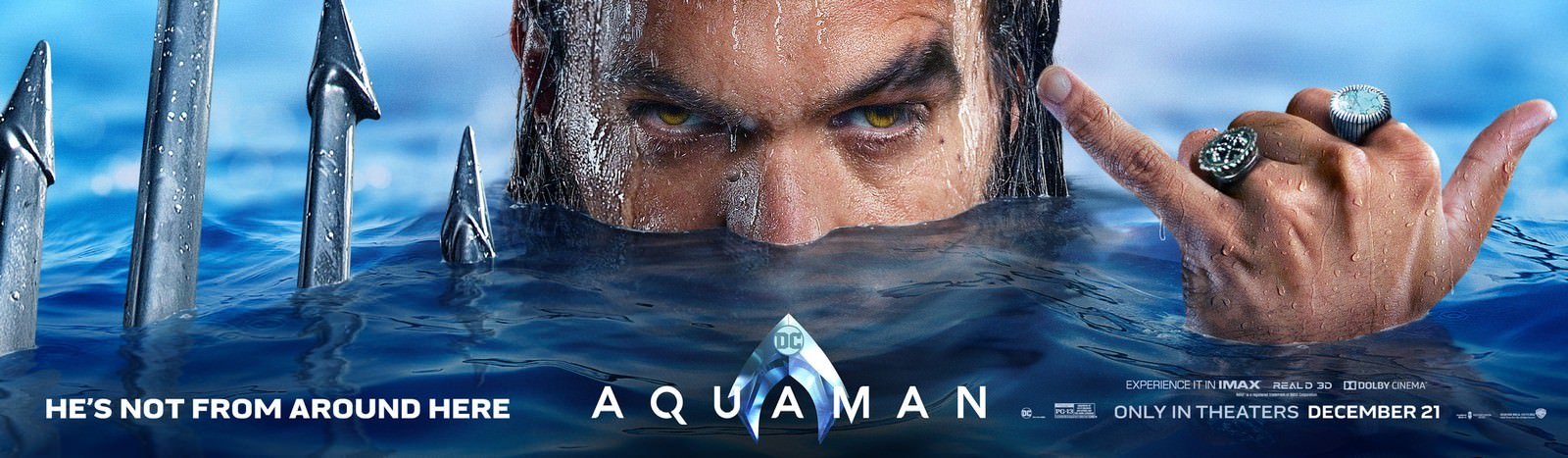 Movie, Aquaman(美國, 2018年) / 水行俠(台灣.香港) / 海王(中國), 電影海報, 美國, 橫版