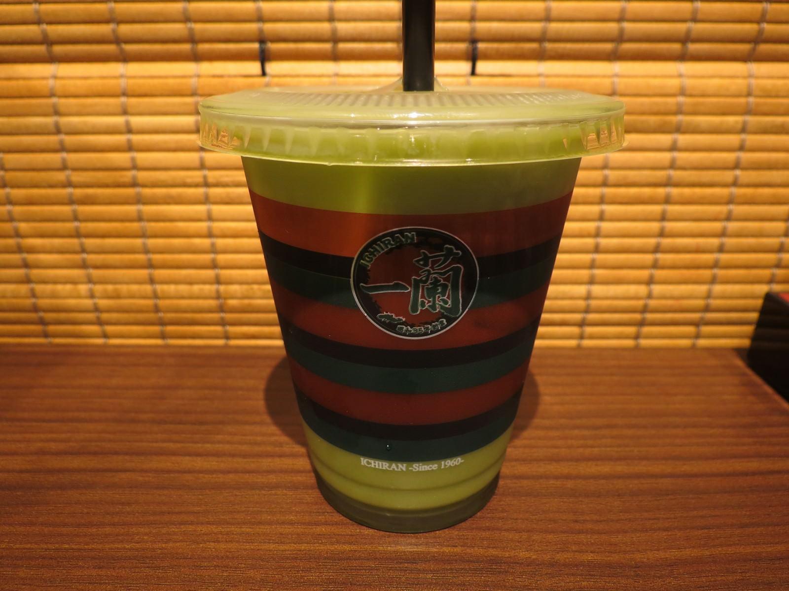 天然豚骨拉麵專門店一蘭@台灣台北本店別館, 餐點, 綠茶