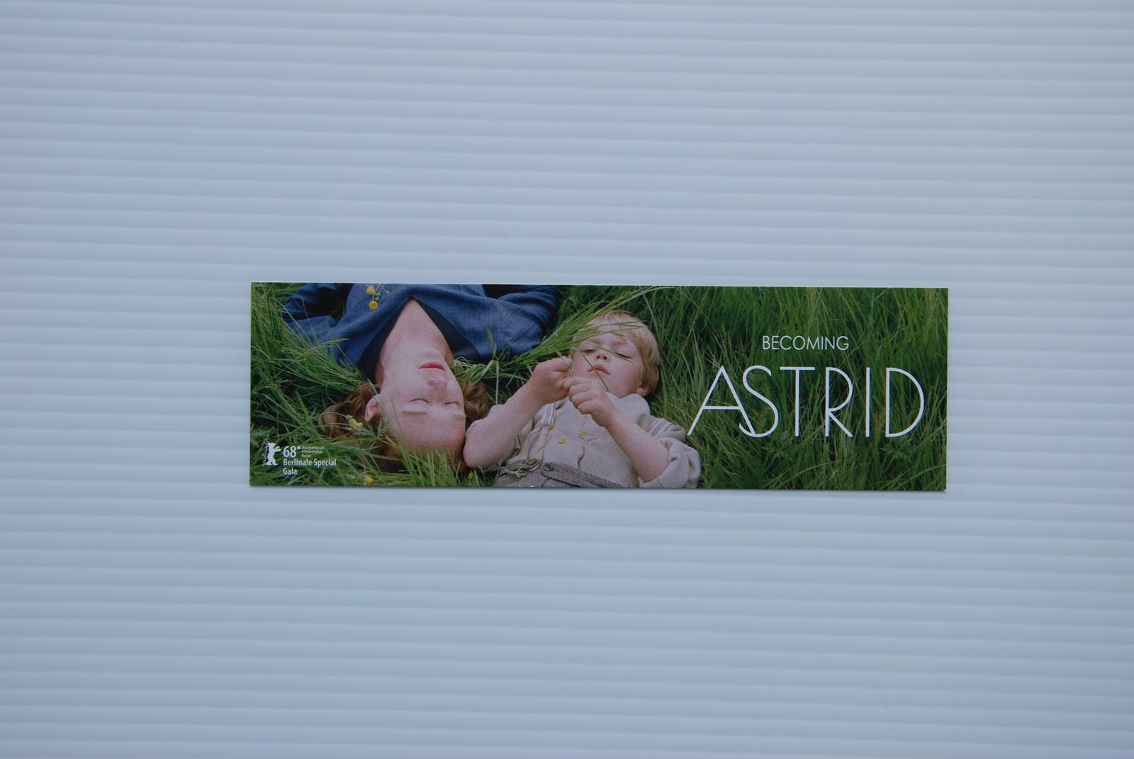 Movie, Unga Astrid(瑞典, 2018年) / 當幸福提早來(台灣) / Becoming Astrid(英文) / 关于阿斯特丽德(網路), 電影票(特映會)