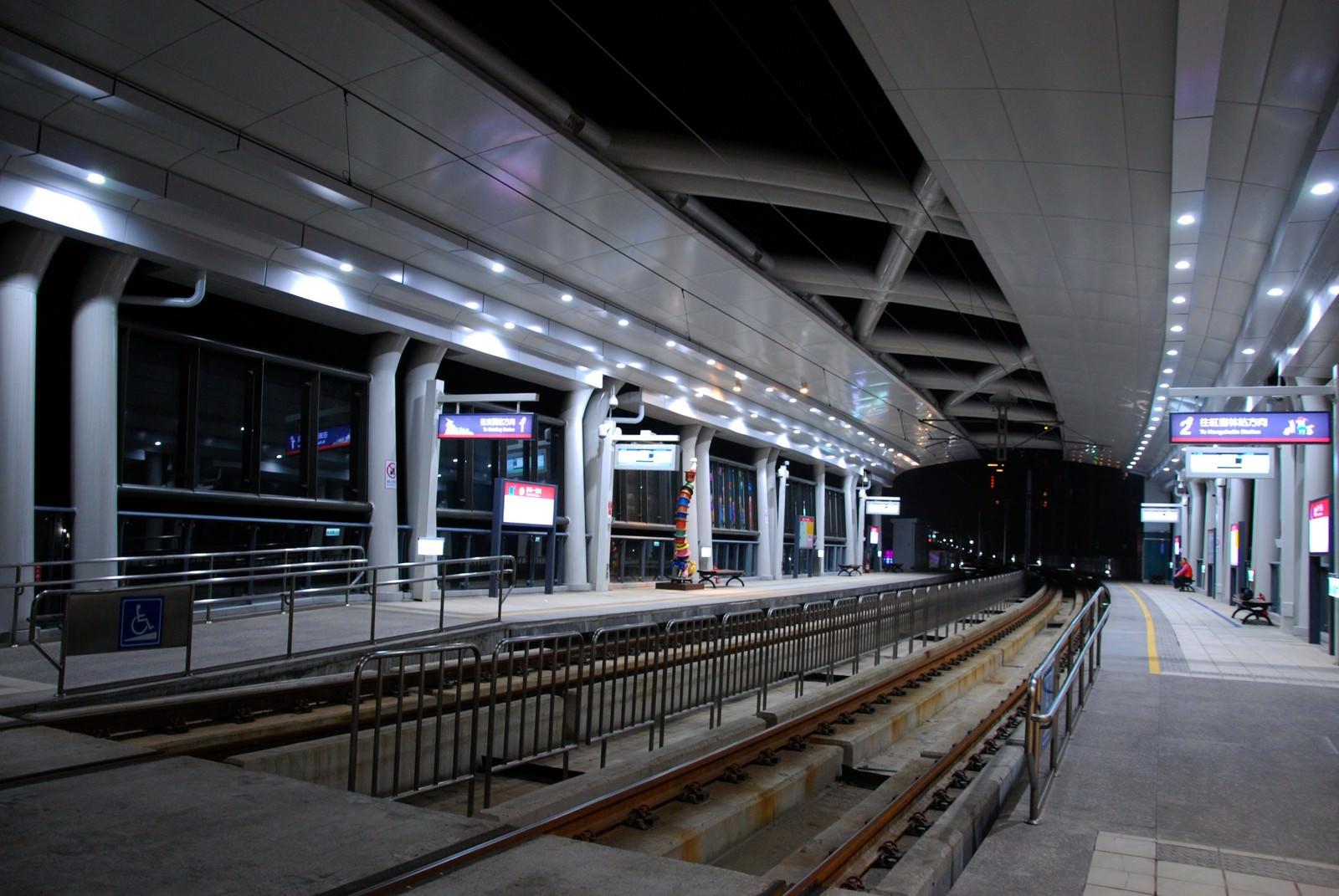 淡海輕軌綠山線, 輕軌新市一路站, 月台