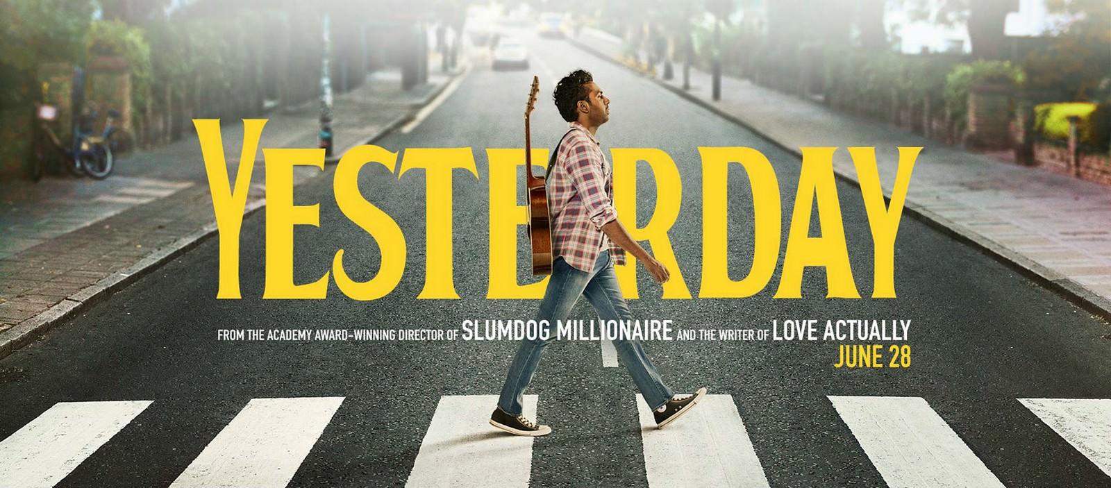 Movie, Yesterday(英國, 2019年) / 靠譜歌王(台灣) / 昨日奇迹(中國) / 緣來自昨天(香港), 電影海報, 英國, 橫版
