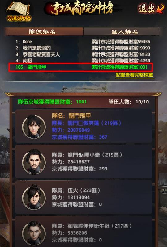 手機遊戲, 叫我官老爺, 京城商院衝榜, 競賽