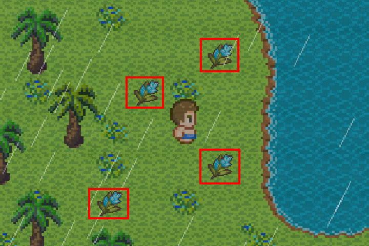 手機遊戲, 無人島大冒險2, 藍花島