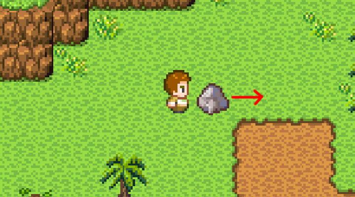 手機遊戲, 無人島大冒險1, 推石頭